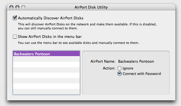 Airport Disk utility