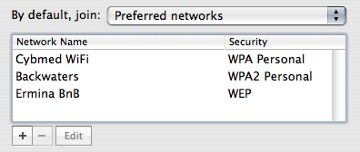 Airport Preferred Networks