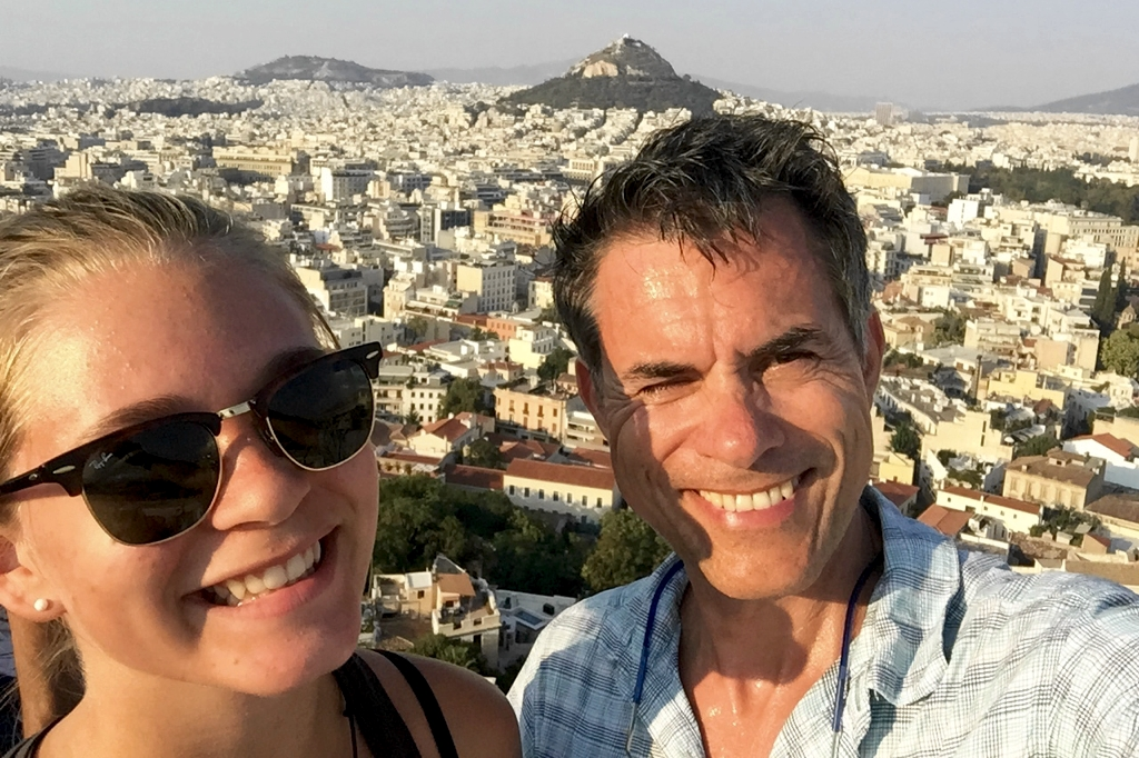 Emma and me on the Acropolis