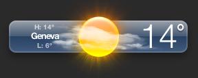 Sunny in Geneva, 14C