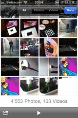 iPhone photo album tabs