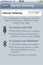 Turn on tethering from the Network pane