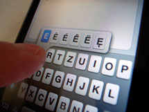 iPod Touch extended keyboard