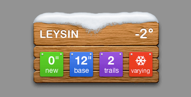 Leysin Skiing Conditions Widget