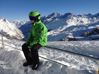 Mathias at the top the Trockener Steg 2012