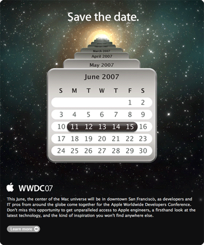 WWDC07 Save The Date