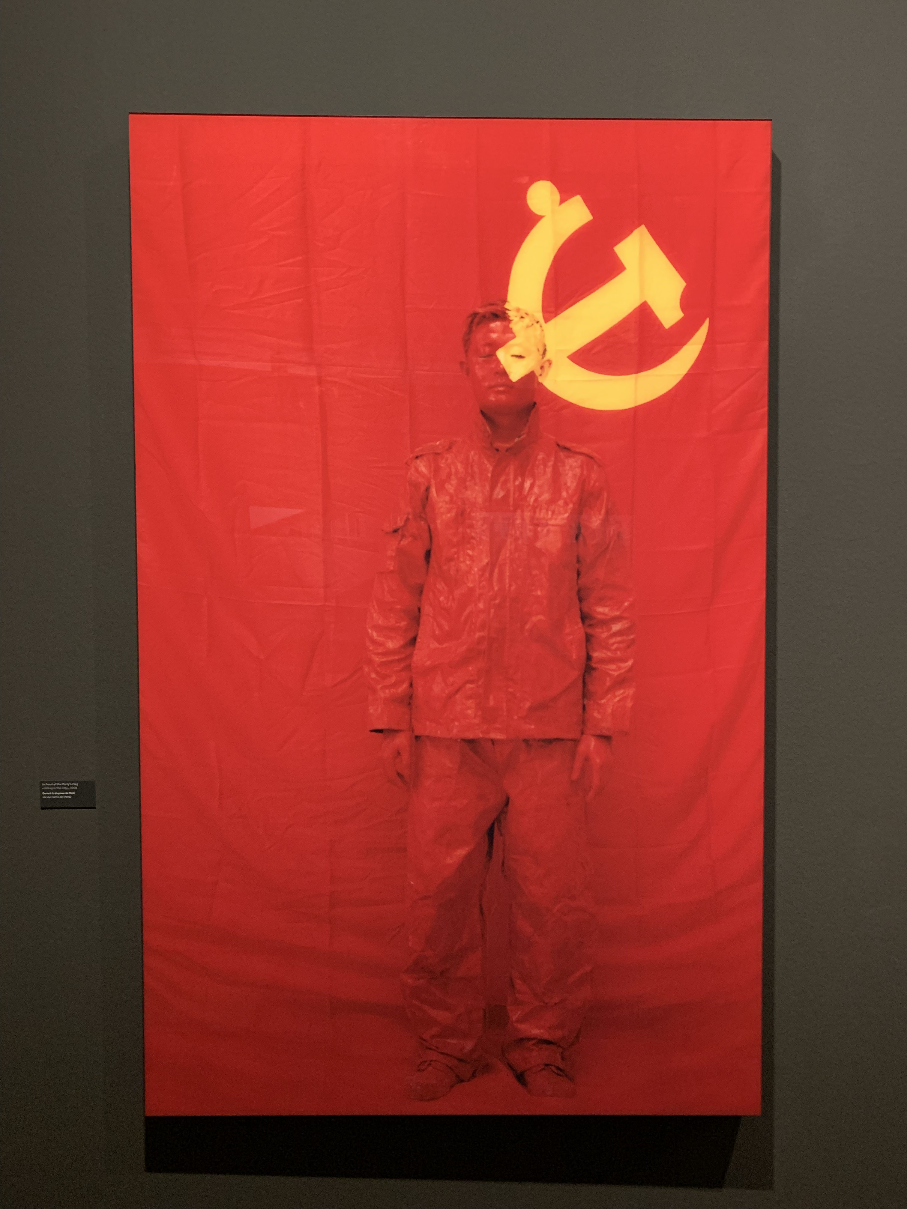 Liu Bolin painted in China's flag