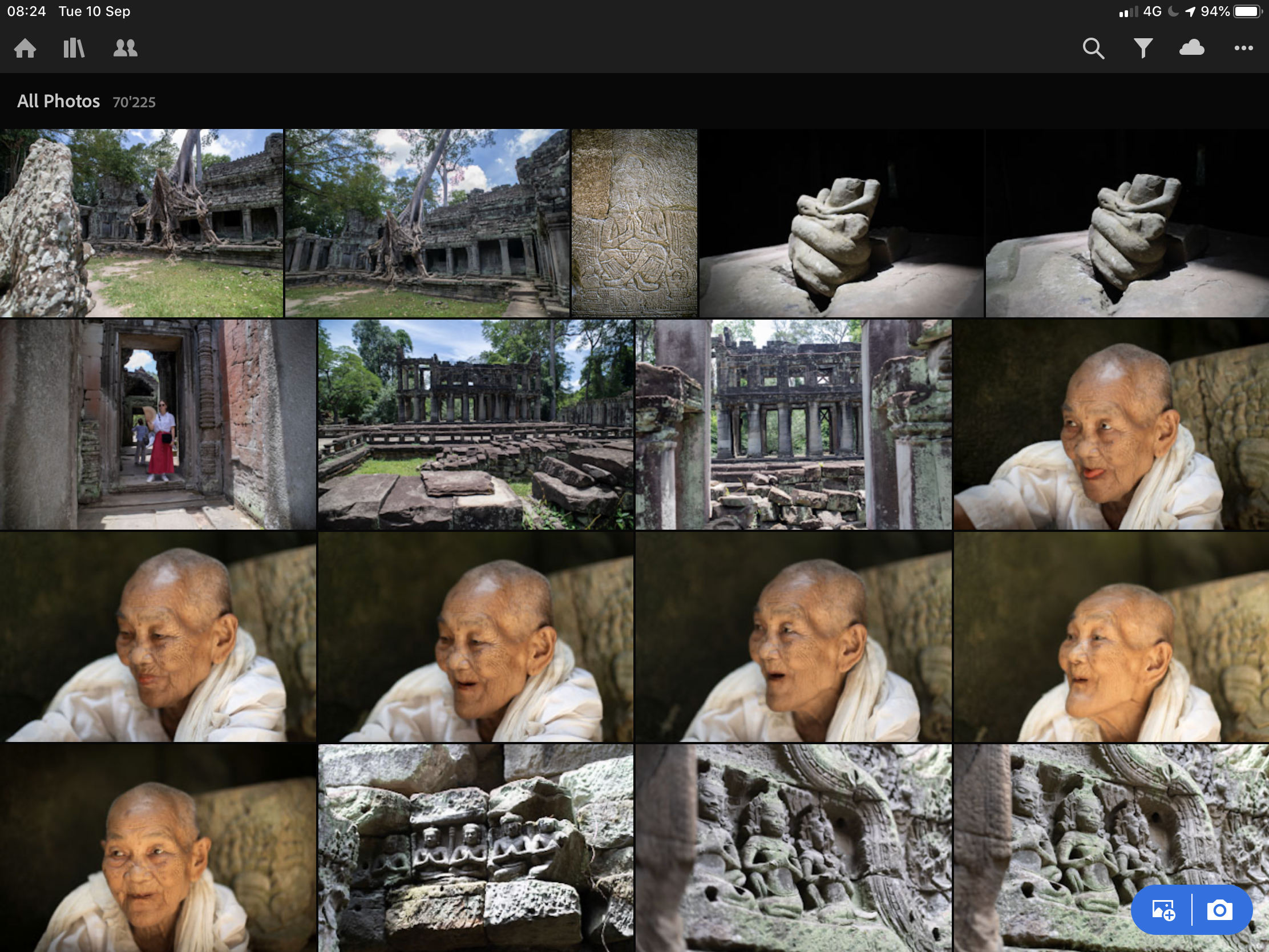 A screenshot of Adobe Lightroom on iPad