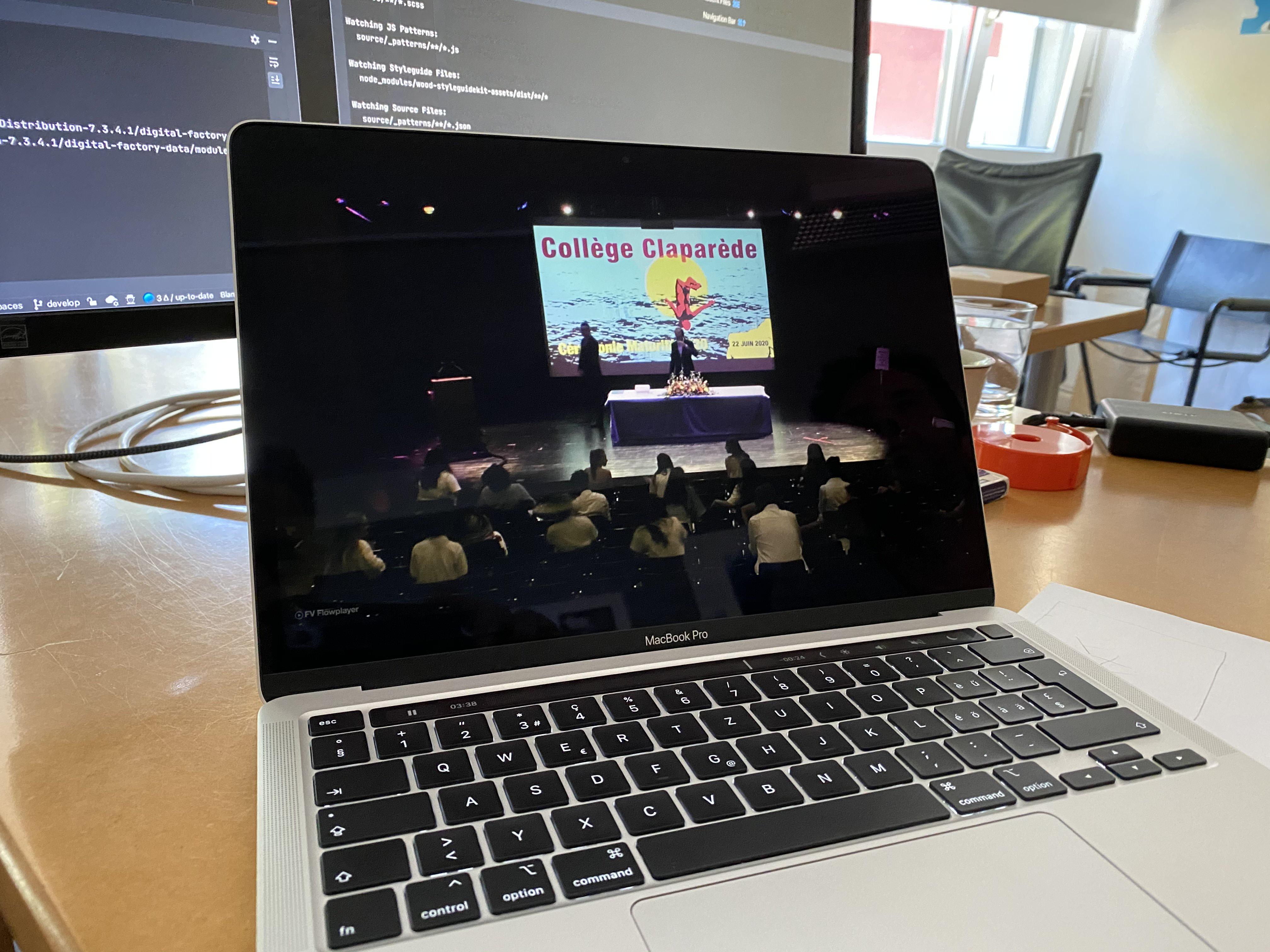Live screencast of the ceremony on my MacBook Pro