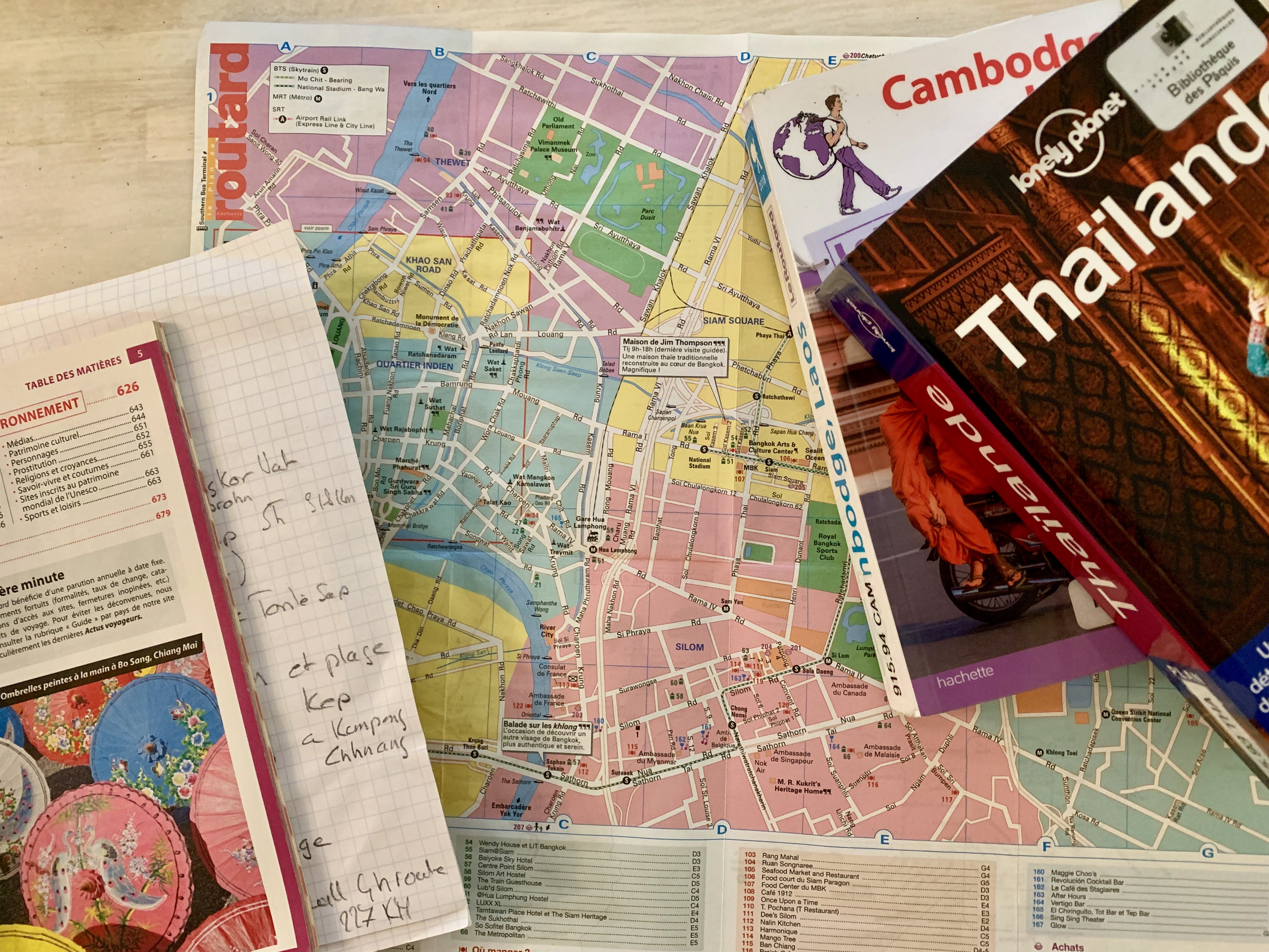 Maps and travel guide books