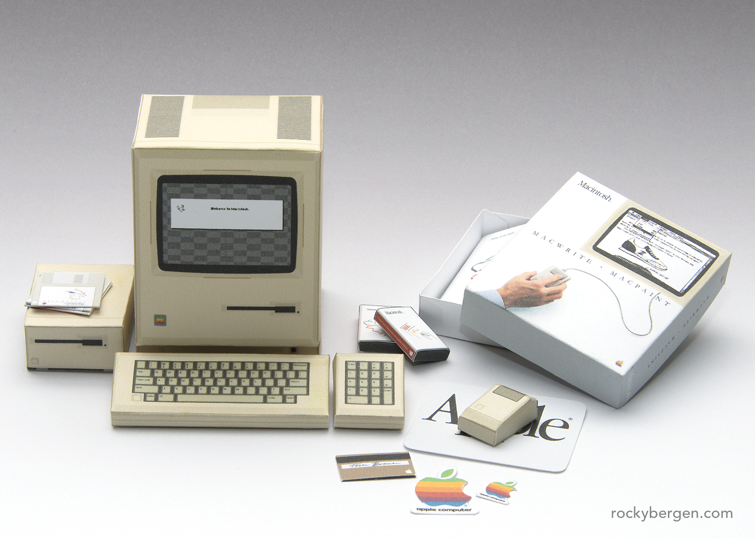 "Apple Macintosh 128K - The computer that ""started it all"", complete with bundled software.  © Rocky Bergen"